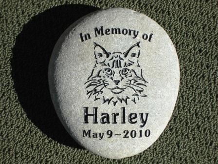 Harley's memory stone for the garden