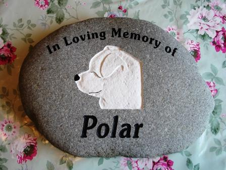 "Memory stone For a good friend ""Polar"""
