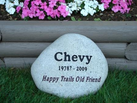 Happy trails old friend - River rock