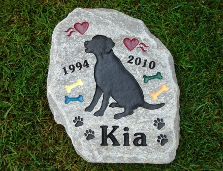 Memory stone for Kia the Labrador
