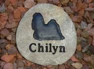River rock memory stone for Chilyn