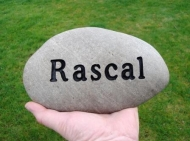 River rock for Rascal