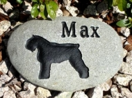 Stone in the garden for Max