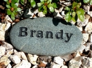 Engraved River rock for Brandy