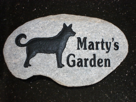 Pet memory stone for Marty's garden