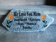 We love you mom, engraved garden stone
