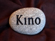 Kino remember on a small River rock