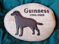 The memory of Guinness engraved in a River rock