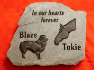Engraved Slate memory stone for dog and horse