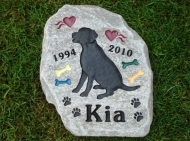 Memory stone for Kia the Labrador