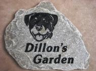 Dillon's garden stone