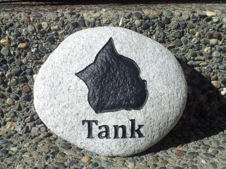 A garden stone for Tank