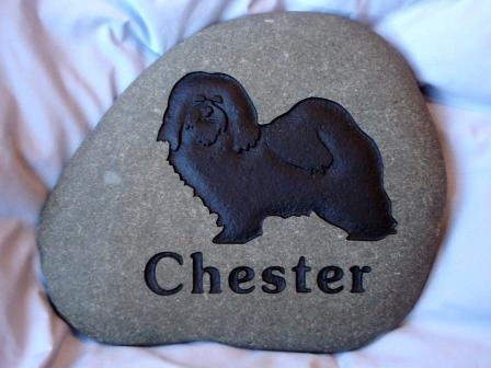 Chester's memory, engraved in stone