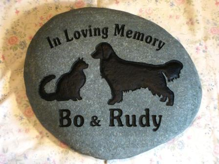 Pet Memory stone For a dog and a cat