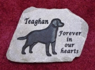 Teaghan, the Labrador retriever remembered forever in stone