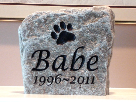 Engraved Mica Slate memory stone for Babe